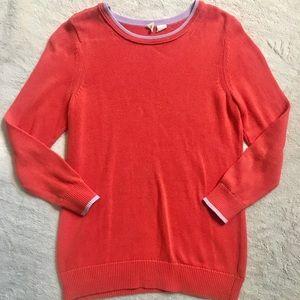 Anthropologie orange knit sweater